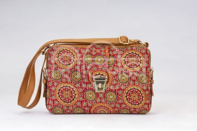 Red Mandala Motif Capsule Sling Bag
