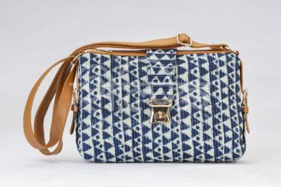 Indigo Aztec Triangle Capsule Sling Bag
