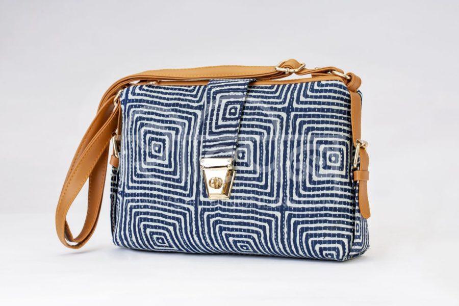Indigo Square Capsule Sling Bag 2