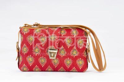 Red Spade Capsule Sling Bag