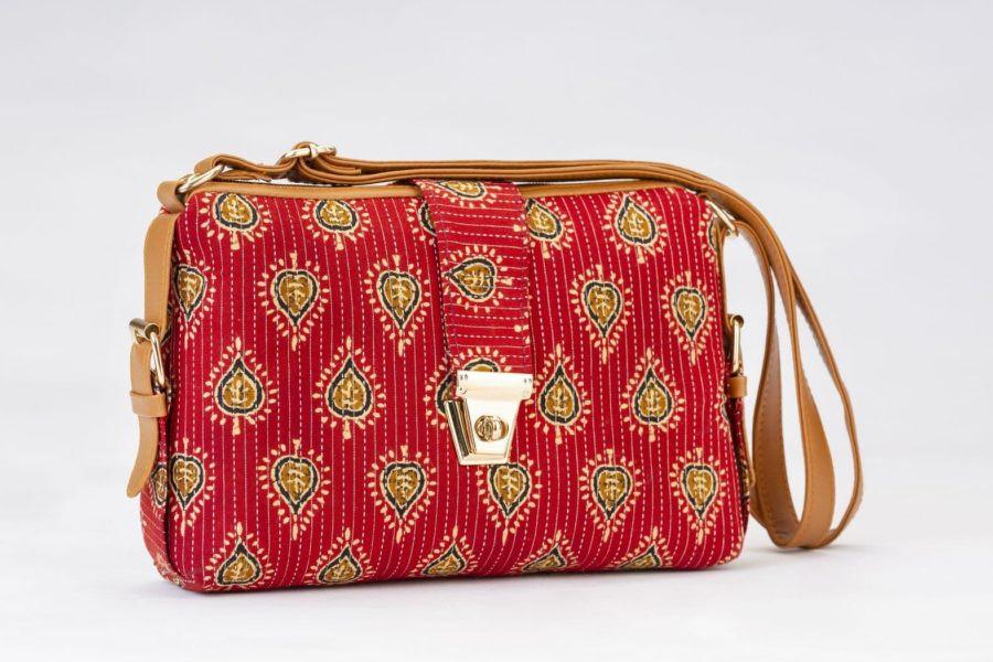 Red Spade Capsule Sling Bag-1