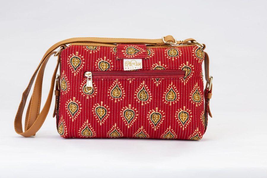 Red Spade Capsule Sling Bag-2