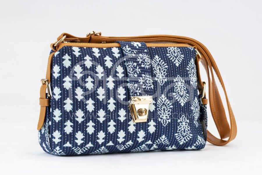 Indigo Collage Capsule Sling Bag2