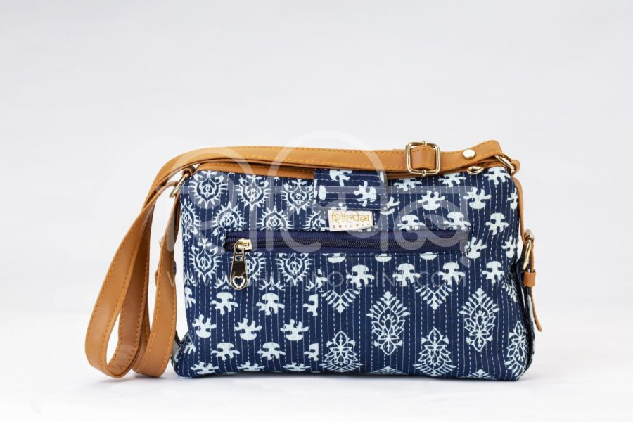 Indigo Collage Capsule Sling Bag 3