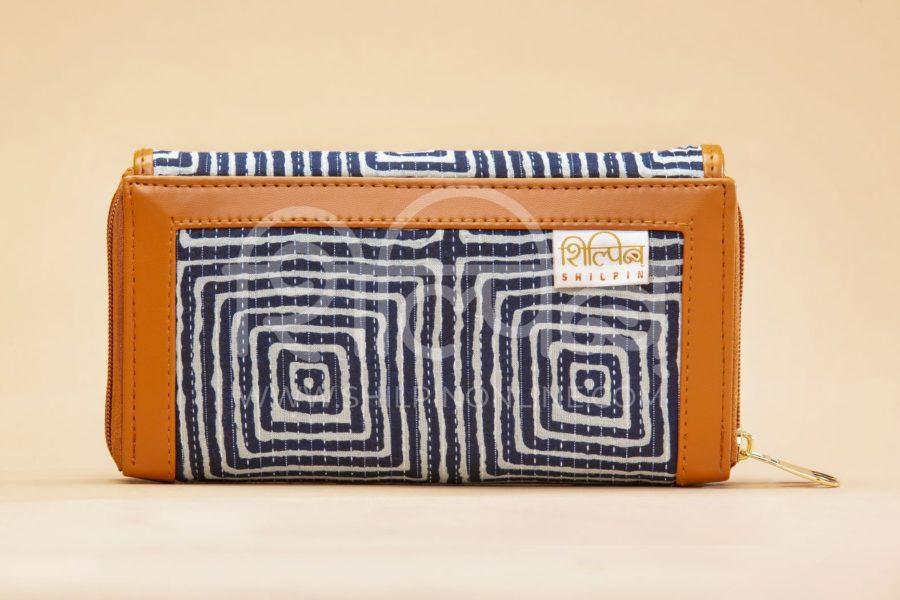 Indigo Square Double Zipped Wallet3