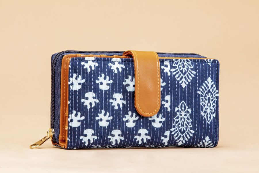 Indigo Collage Flap Wallet-1
