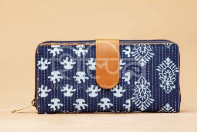 Indigo Collage Flap Wallet