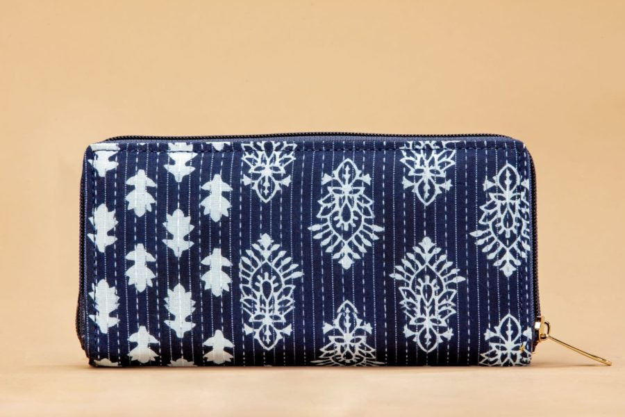 Indigo Collage Flap Wallet-2