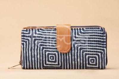Indigo Square Flap Wallet