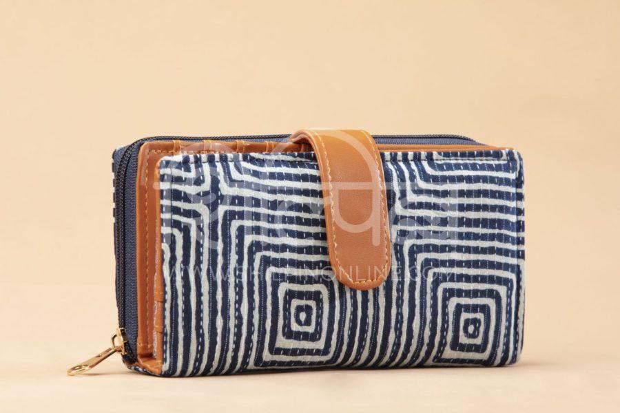 Indigo Square Flap Wallet2