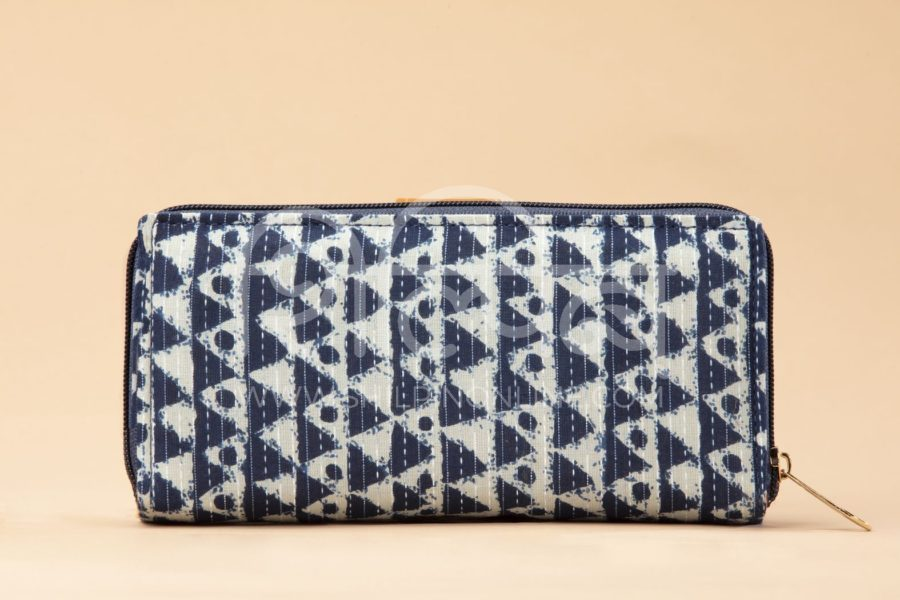 Indigo Aztec Triangle Flap Wallet3