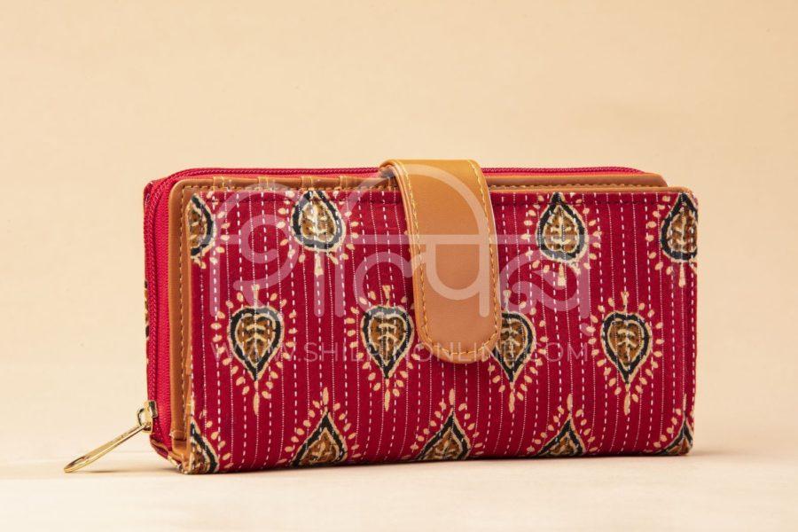 Red Spade Flap Wallet2