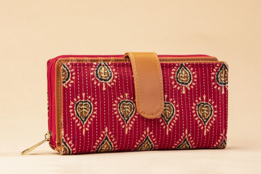 Red Spade Flap Wallet-1