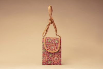 Red Mandala Motif Mobile Pouch