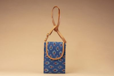 Blue Tribal Motif Mobile Pouch