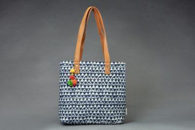 Indigo Aztec Triangle Office Tote Bag