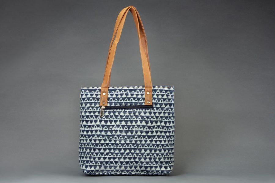Indigo Aztec Triangle Office Tote Bag-1