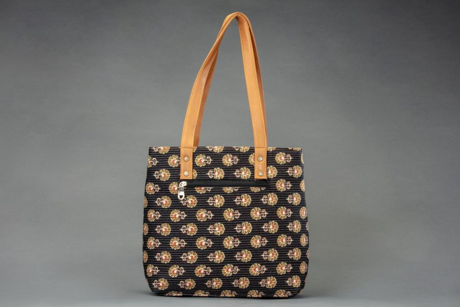 Black BeRe Marigold Office Tote Bag-1
