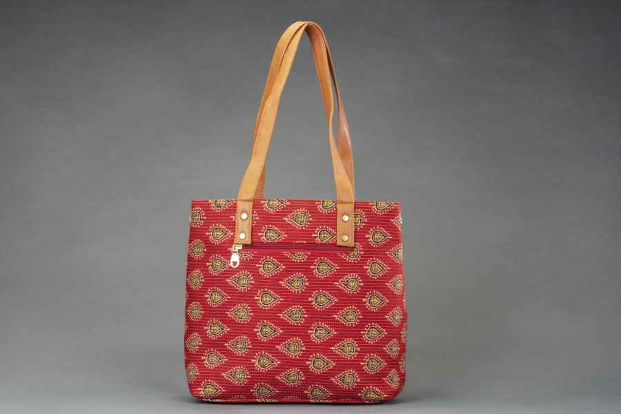Red Spade Office Tote Bag-1