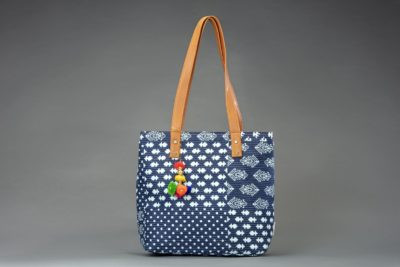 Indigo Collage Office Tote Bag