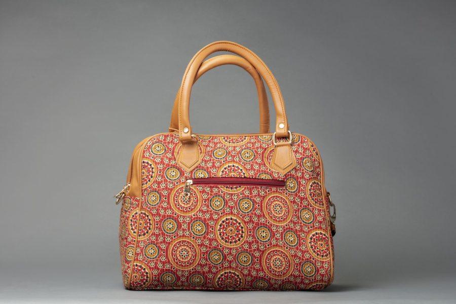Red Mandala Motif D Shoulder Bag-1