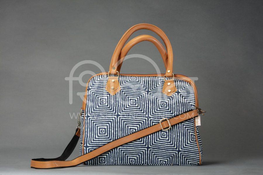 Indigo Square D Shoulder Bag