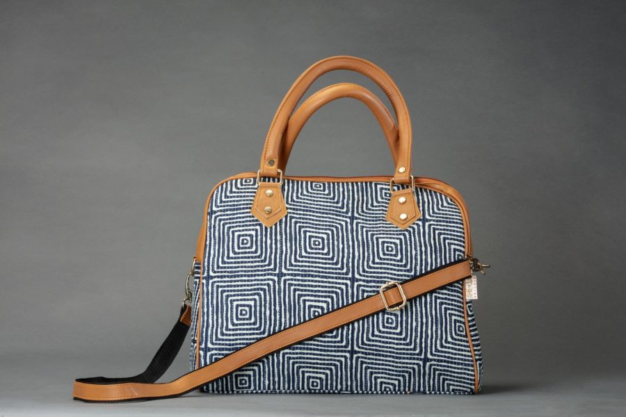 Indigo Square D Shoulder Bag