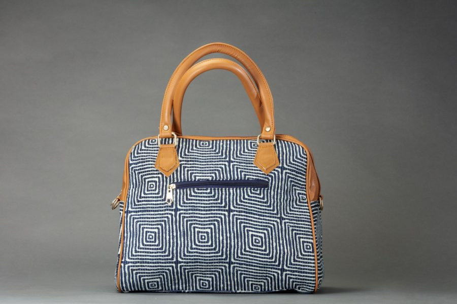 Indigo Square D Shoulder Bag-1