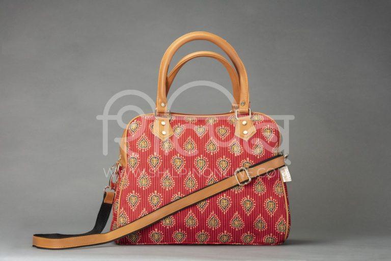 Red Spade D Shoulder Bag
