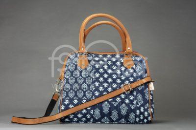 Indigo Collage D Shoulder Bag