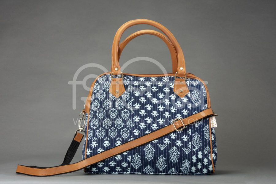 Indigo Collage D Shoulder Bag