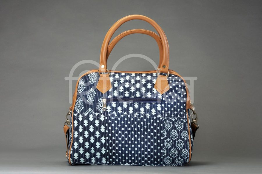 Indigo Collage D Shoulder Bag2