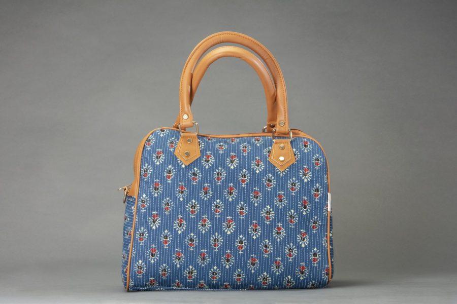 Blue Tribal Motif Block D Shoulder Bag
