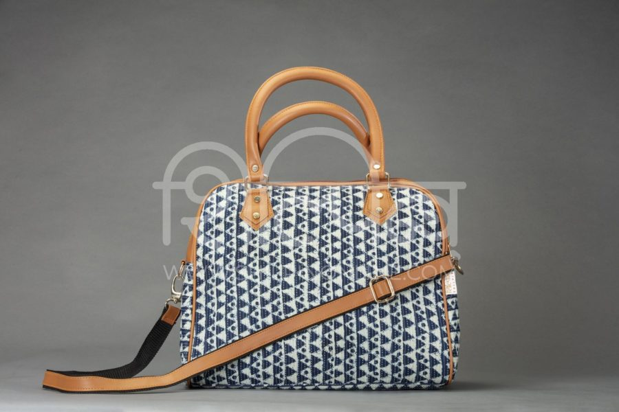 Indigo Aztec Triangle D Shoulder Bag