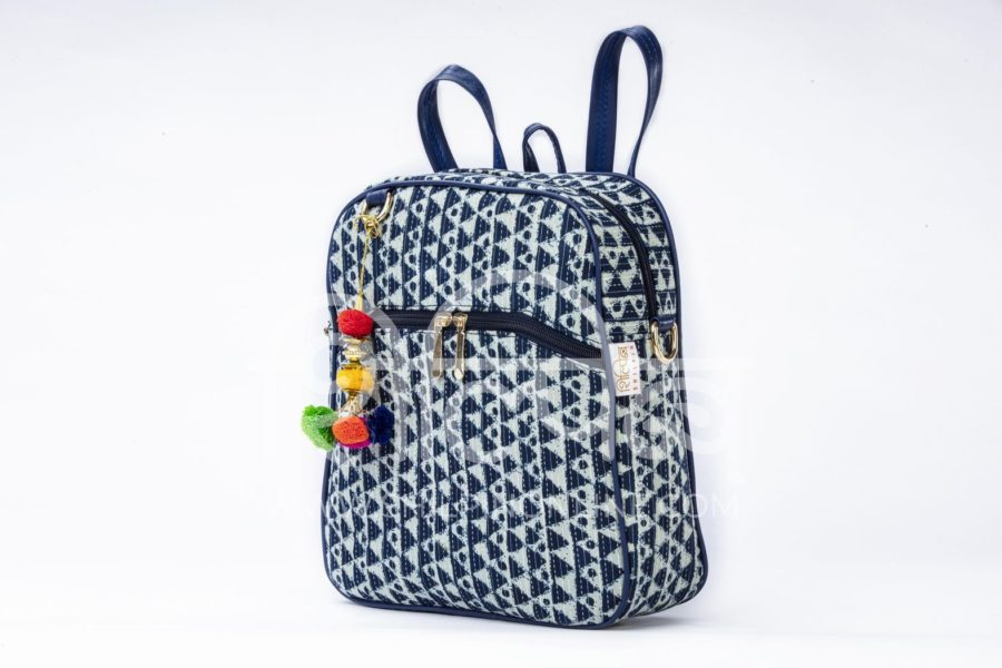 Indigo Aztec Triangle Modular BackPack2