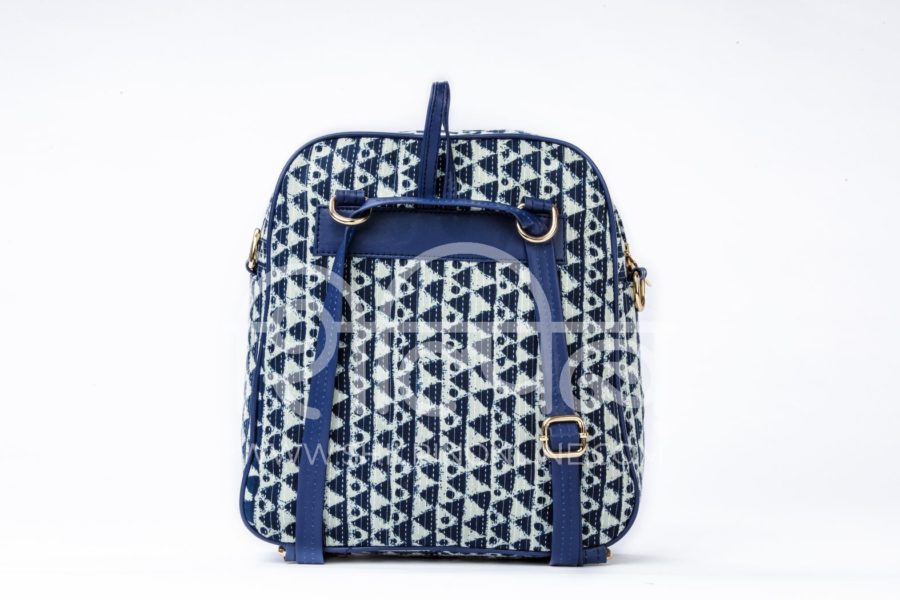 Indigo Aztec Triangle Modular BackPack3