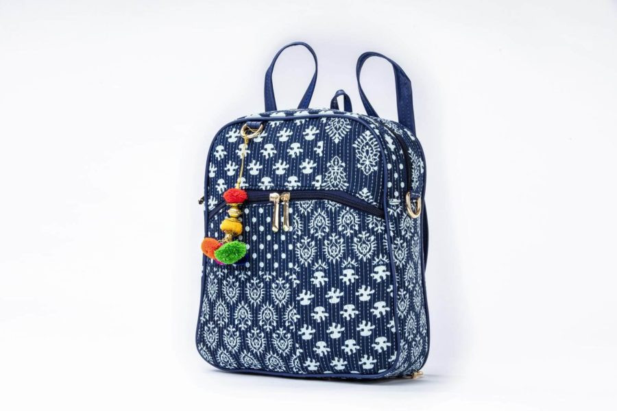 Indigo Collage Modular BackPack-1