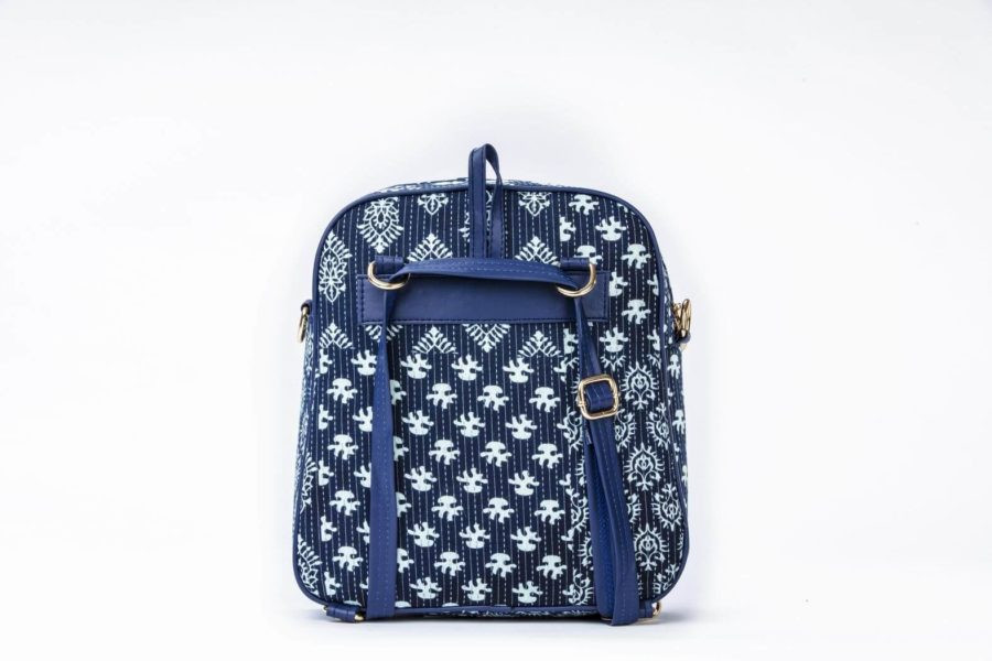 Indigo Collage Modular BackPack-2