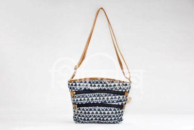 Indigo Aztec Triangle Basket Sling