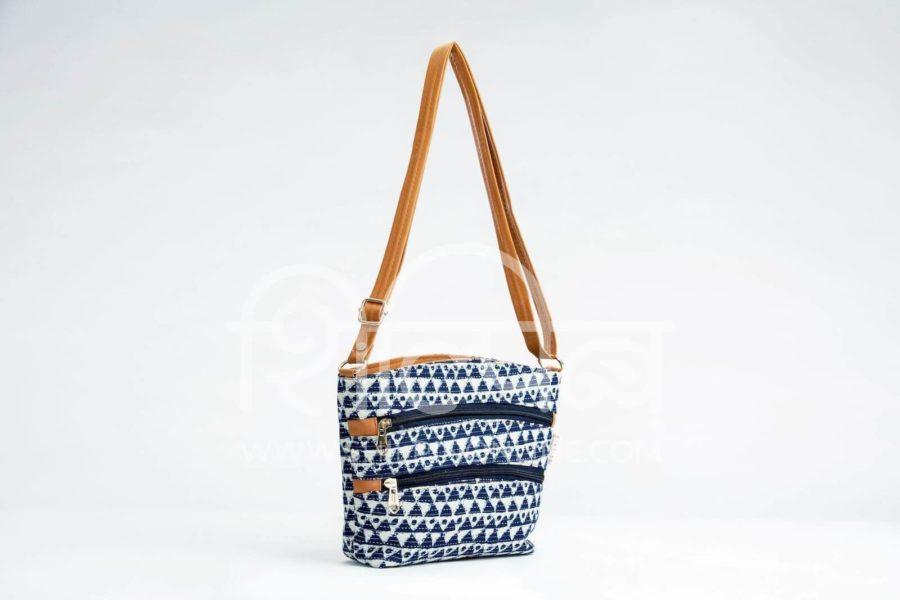 Indigo Aztec Triangle Basket Sling2