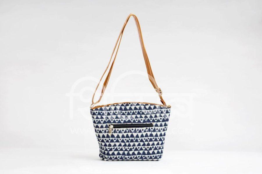 Indigo Aztec Triangle Basket Sling3