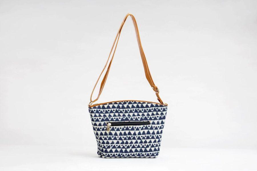 Indigo Aztec Triangle Basket Sling-2