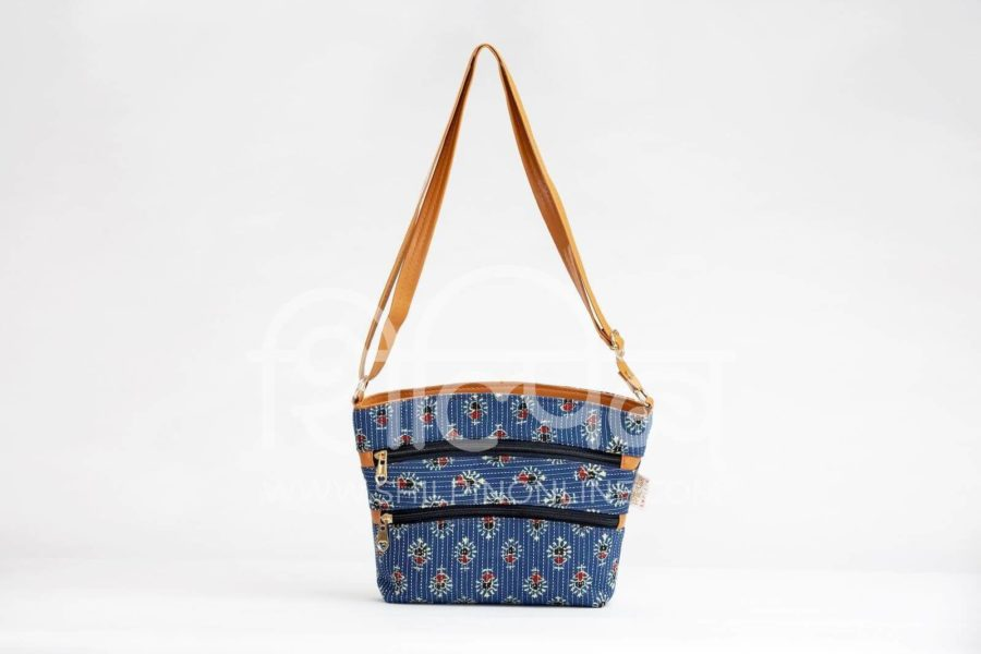 Blue Tribal Motif Basket Sling