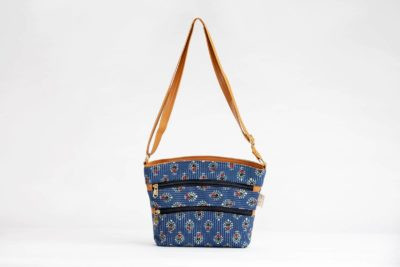 Blue Tribal Motif Basket Sling