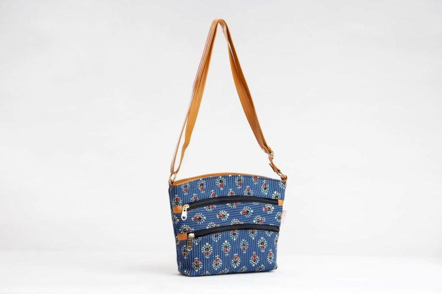 Blue Tribal Motif Basket Sling-1