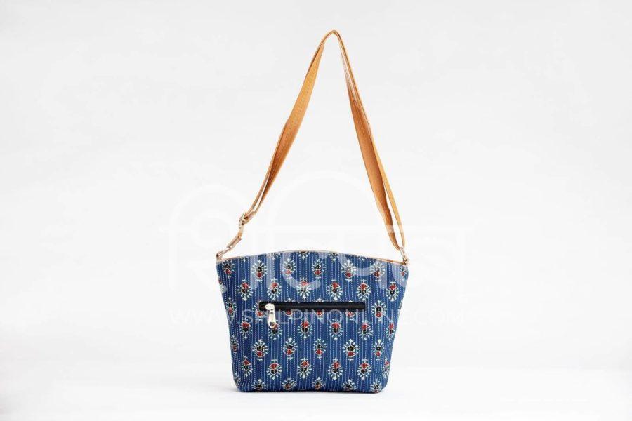 Blue Tribal Motif Basket Sling3