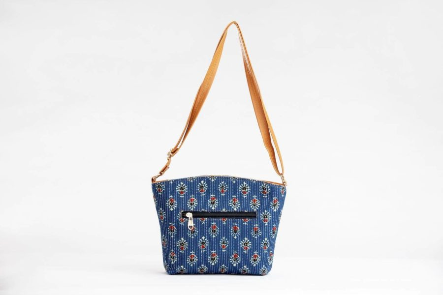 Blue Tribal Motif Basket Sling-2