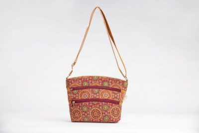 Red Mandala Motif Basket Sling