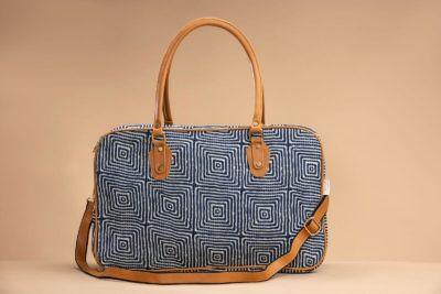 Indigo Square Travel Bag