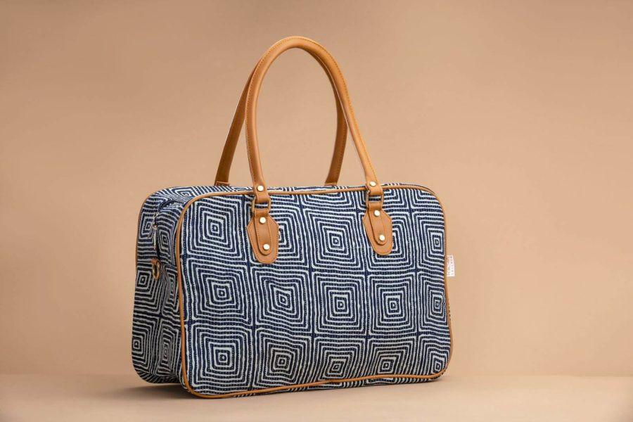 Indigo Square Travel Bag-1